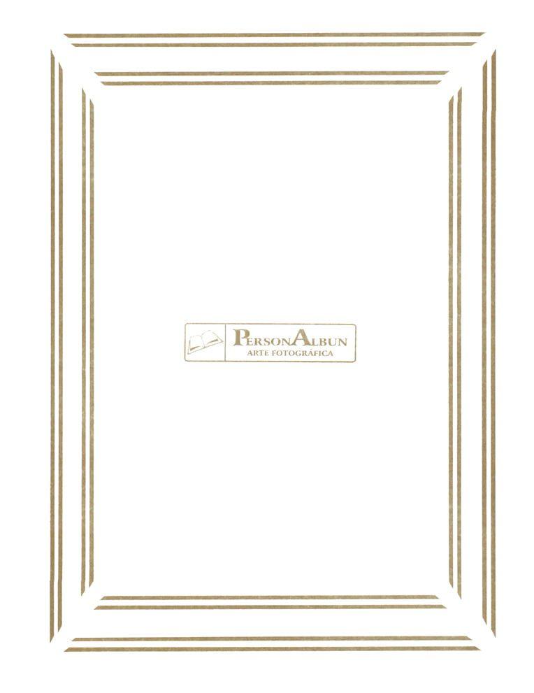 Folha Branca com Borda Ouro - DISPONÍVEL EM: 15X21•20X25